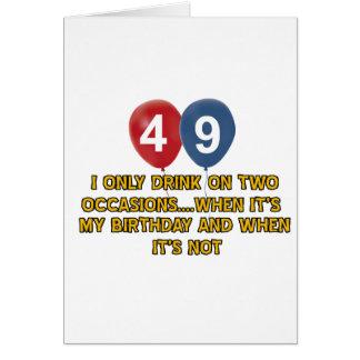 Cartão Design do aniversário das pessoas de 49 anos