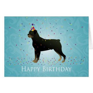 Cartão Design do aniversário de Rottweiler