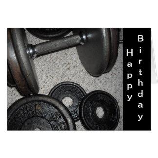 Cartão Design do aniversário do levantamento de peso
