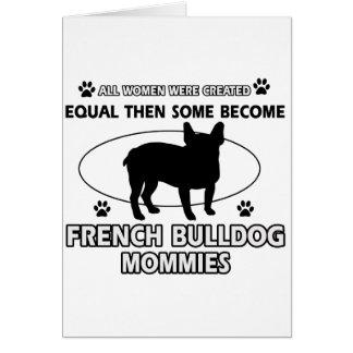 Cartão design do cão do buldogue francês
