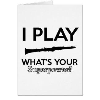 Cartão design do clarinete