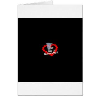 Cartão Design do coração da vela para o estado de