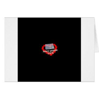 Cartão Design do coração da vela para o estado de North