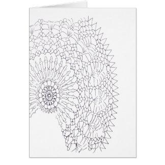 Cartão Design do Crochet