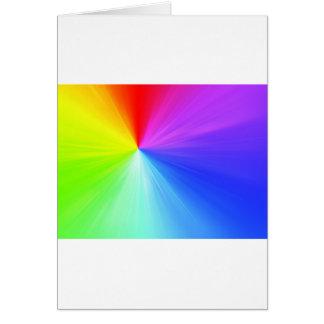 Cartão Design do espectro do arco-íris