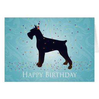 Cartão Design do feliz aniversario de Schnauzer gigante