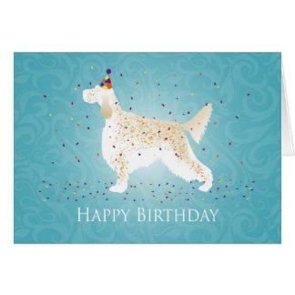 Cartão Design do feliz aniversario de setter inglês