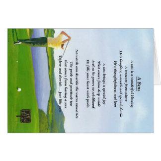Cartão Design do golfe - poema do filho
