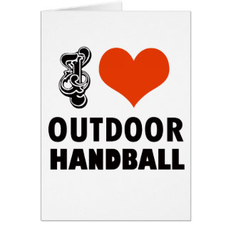 Cartão Design do handball