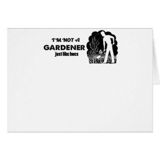 Cartão design do jardineiro