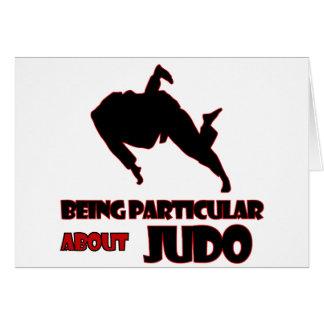 Cartão design do judo