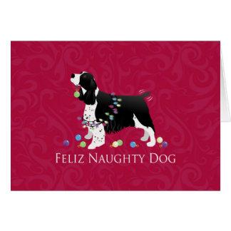 Cartão Design do Natal do Spaniel de Springer