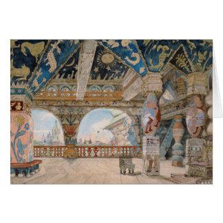 Cartão Design do palco para a ópera de Nikolai
