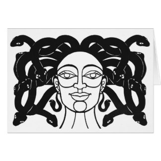 "Cartão Design do papercut do ""Medusa"" por Jennifer Kuhns"