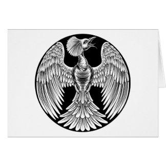 Cartão Design do pássaro do fogo de Phoenix