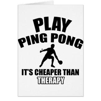 Cartão design do pong do sibilo