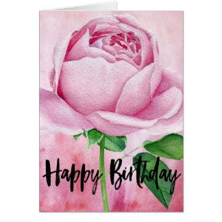 Cartão Design do rosa do rosa do feliz aniversario