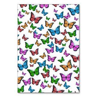 Cartão Design do teste padrão de borboletas