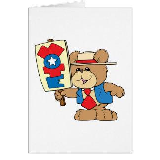 Cartão design do urso de ursinho do VOTO da eleição