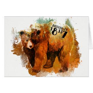 Cartão Design do urso preto do PA de Milford