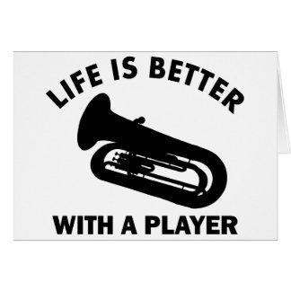 Cartão Design do vetor da tuba
