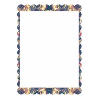 Cartão Design dos artigos de papelaria com beiras