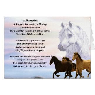Cartão Design dos cavalos - poema da filha