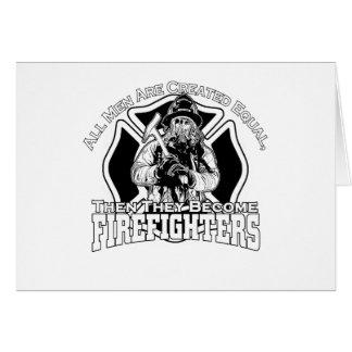 Cartão Design dos sapadores-bombeiros