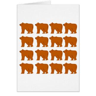Cartão Design dos ursinhos no branco