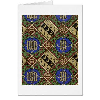 Cartão Design eclesiástico do papel de parede do