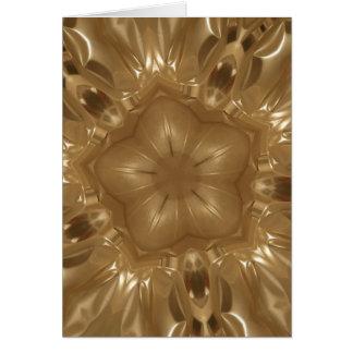 Cartão Design elegante da estrela do caleidoscópio de