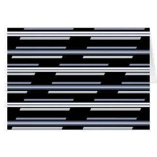 Cartão Design enviesado do teste padrão das listras