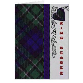 Cartão Design escocês do coração do Tartan de MacCallum