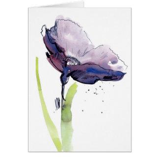 Cartão Design floral do verão com abstrato pintado à mão