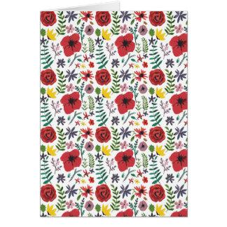 Cartão Design floral do Watercolour