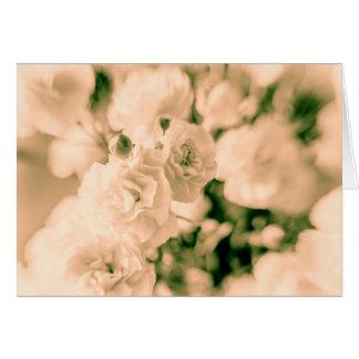 Cartão Design floral dos cravos do romance e dos