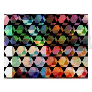 Cartão Design gráfico do hexágono abstrato