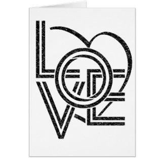 Cartão design gráfico do vintage do amor
