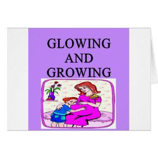Cartão Design GRÁVIDO da gravidez