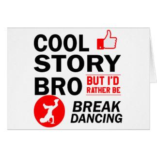 Cartão Design legal da dança de ruptura