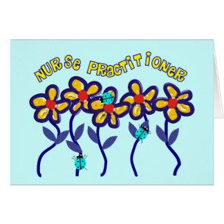 Cartão Design lunático das flores dos presentes do médico