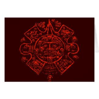 Cartão Design maia da imagem do calendário
