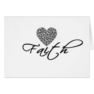Cartão Design moderno da fé com gráfico do coração