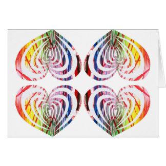 Cartão Design moderno fabuloso e original do coração!