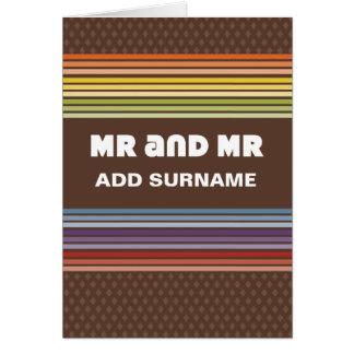 Cartão Design nao reto - Sr. e Sr.
