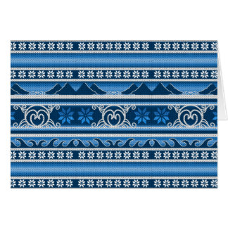 Cartão Design nórdico azul do inverno