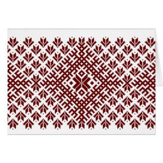 Cartão Design nórdico tradicional