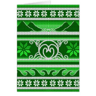 Cartão Design nórdico verde do inverno
