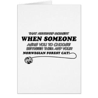 Cartão Design norueguês do gato da floresta