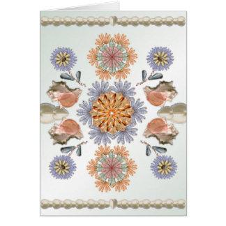 Cartão Design original da arte de Shell do jardim da